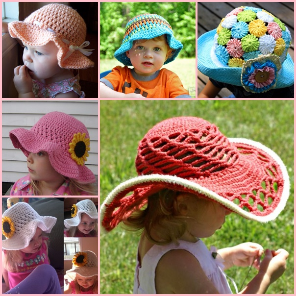 Crochet-Sun-Hats-free pattern-wonderfuldiy