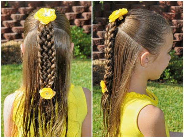 VIEW IN GALLERY Cute Seven Strand Braid Hairstyle