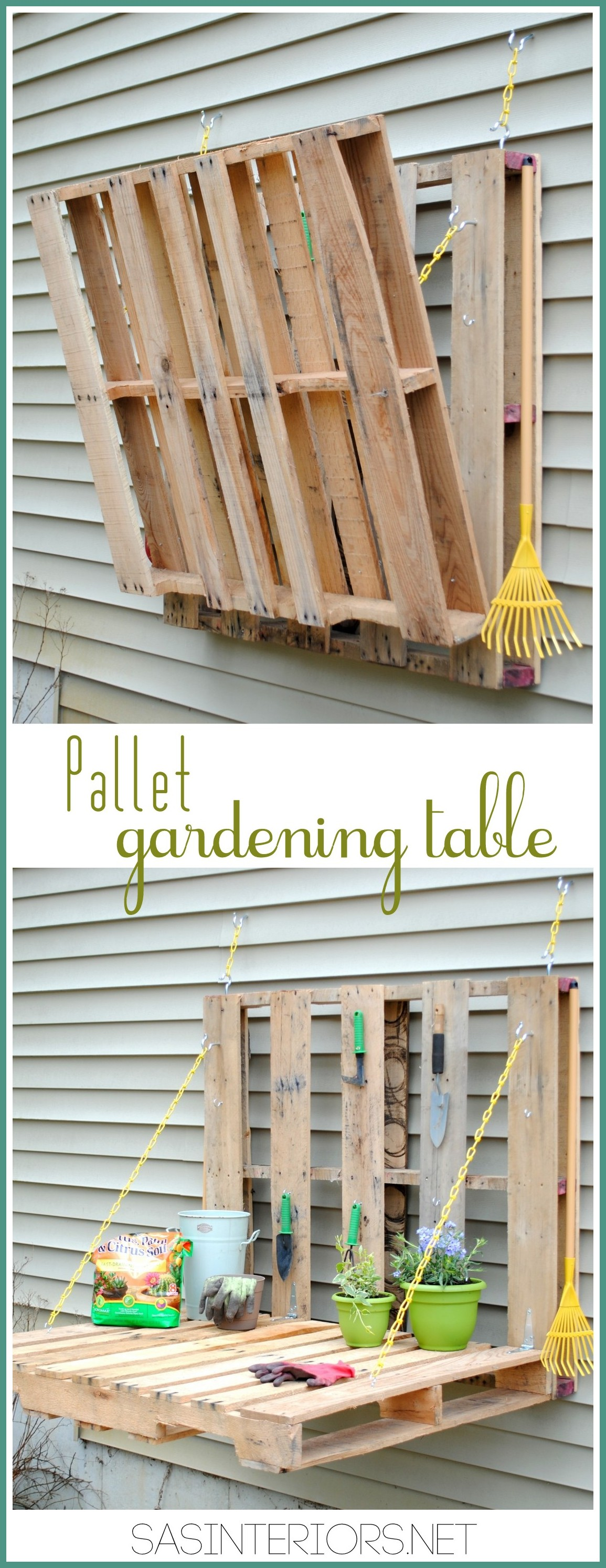 DIY Pallet Gardening Table