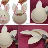 Wonderful DIY Easter Paper Plate Bunny Basket