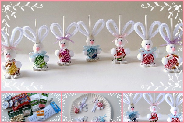 Wonderful diy easy easter bunny suckers solutioingenieria Choice Image