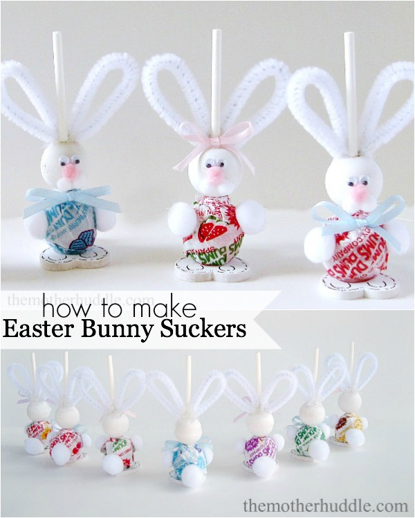 Easter Bunny Sucker wonerfuldiy1 Wonderful DIY Easy Easter Bunny Suckers