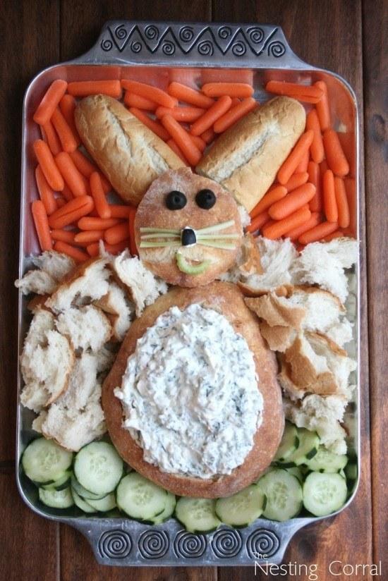 Easy Easter bunny Appetizer-WONDERFULIY