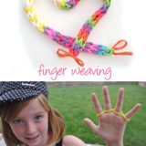 Wonderful DIY Kids Finger Weaving