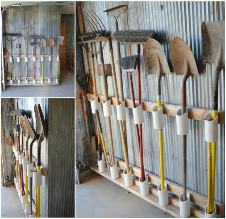 Wonderful diy garage tool organizer for Gardening tools brisbane