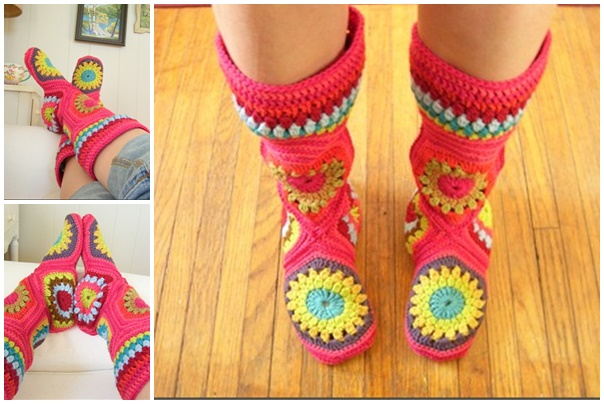 Hexagon slipper Boots-wonderfuldiy f1