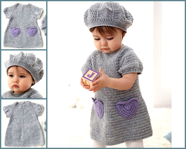 I heart my dress set crochet free pattern-wonderfuldiy