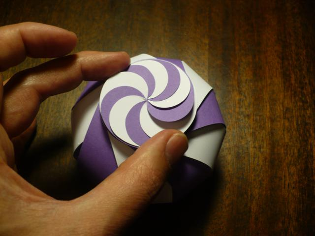 Kirigami box - purple and white