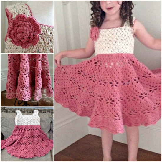 Luxury Crochet Girl Dress Pattern Festooning Easy Scarf Knitting