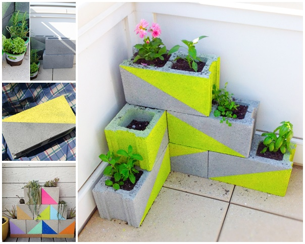 Modern Neon Concrete Block Planter wonderfuldiy Wonderful DIY Modern, Neon Concrete Block Planter