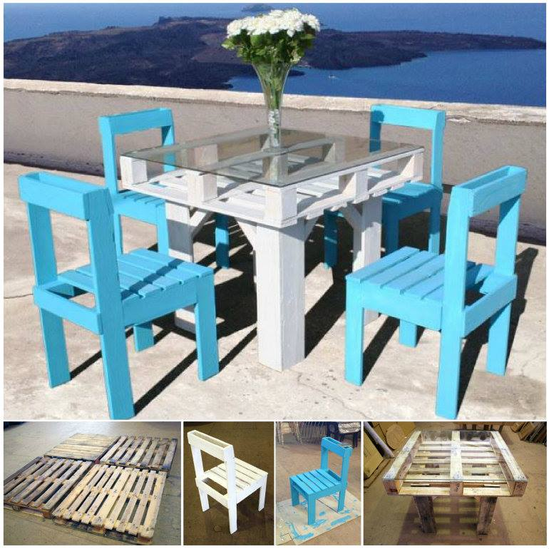 VIEW IN GALLERY Outdoor Pallet Furniture DIY Ideas And Tutorials8