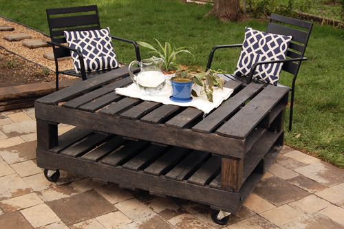 Outdoor Pallet rolling Table