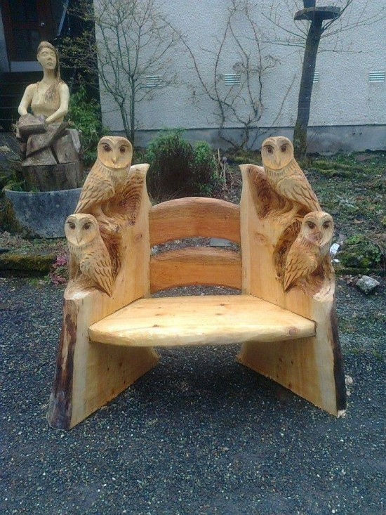 Owl Chair Carving wonderfuldiy Wonderful DIY  Wood Carving Owl