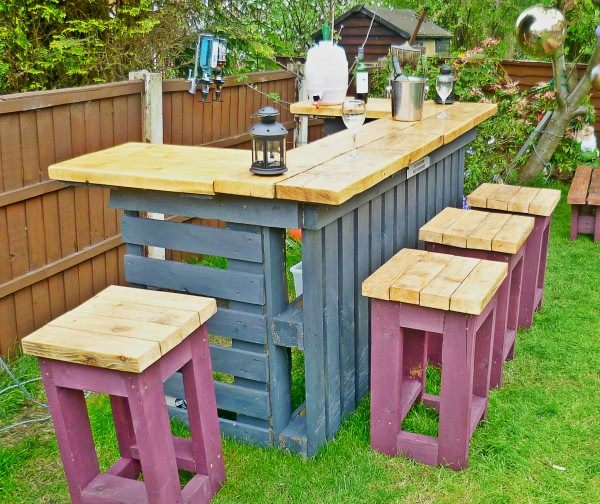View In Gallery Pallet Bar And Stools