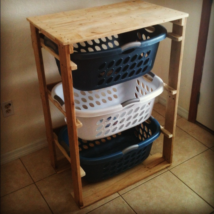 50 wonderful pallet furniture ideas and tutorials 28 diy pallet laundry basket dresser solutioingenieria Gallery