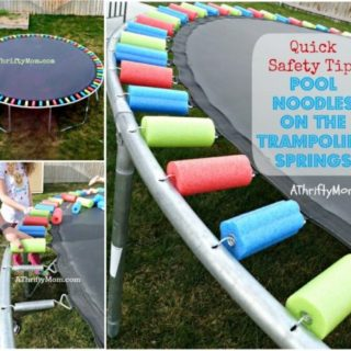 Wonderful DIY Pool Noodle Trampoline Springs