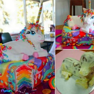 Wonderful DIY Rainbow Unicorn Cake