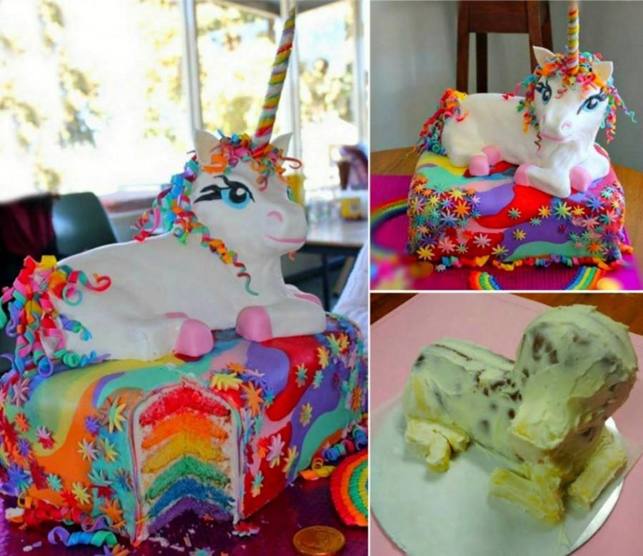 Rainbow Unicorn Cake wonderfuldiy Wonderful DIY Rainbow Unicorn Cake