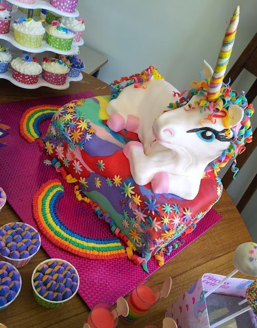 Rainbow Unicorn Cake wonderfuldiy1 Wonderful DIY Rainbow Unicorn Cake