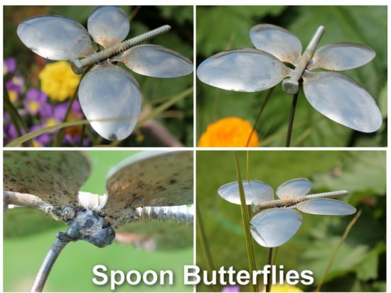 Spoon Butterflies 550x413 Wonderful DIY Spoon Butterfly