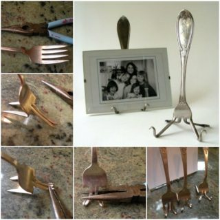 Wonderful DIY  Fork Picture Holder