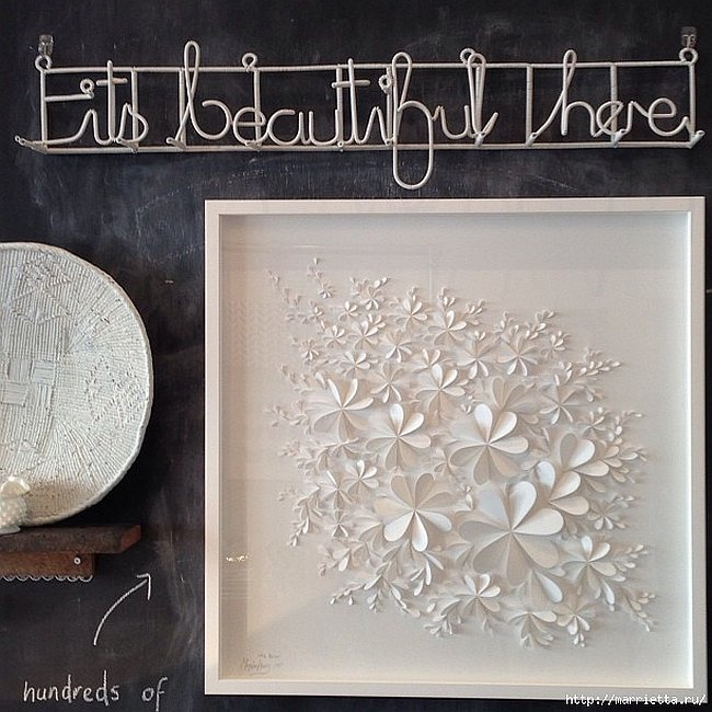 Delightful diy paper flower wall art free guide and templates view in gallery white 3d flower wall art mightylinksfo