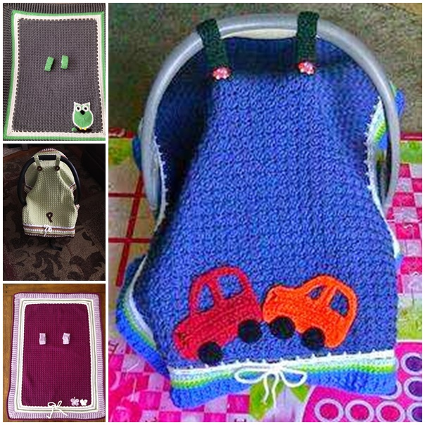 Baby Car Seat Blanket Covers Pattern