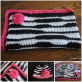 Wonderful DIY Zebra Newborn Baby Hat and Blanket