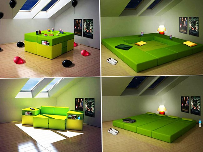 Amazing Design Of Space Saving Multiplo Modular Furniture