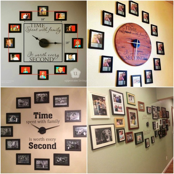family photo wall clock-wonderfuldiy f