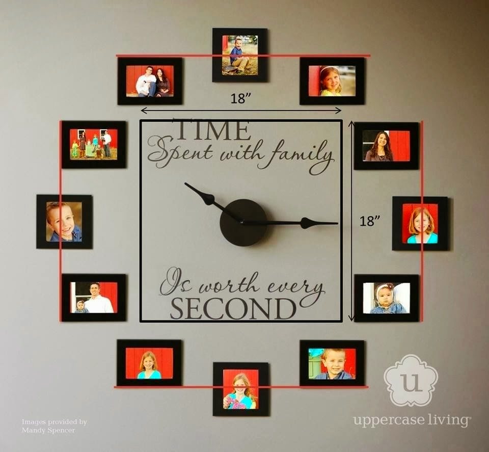 family photo wall clock-wonderfuldiy1