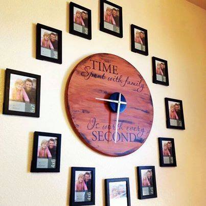Wonderful Diy Family Photo Wall Clock