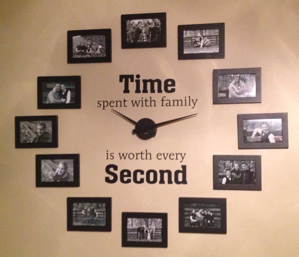 Do It Yourself Home Decorating Ideas: Wonderful DIY Family Photo Wall Clock
