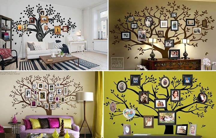 Wonderful diy amazing family tree wall art solutioingenieria Choice Image