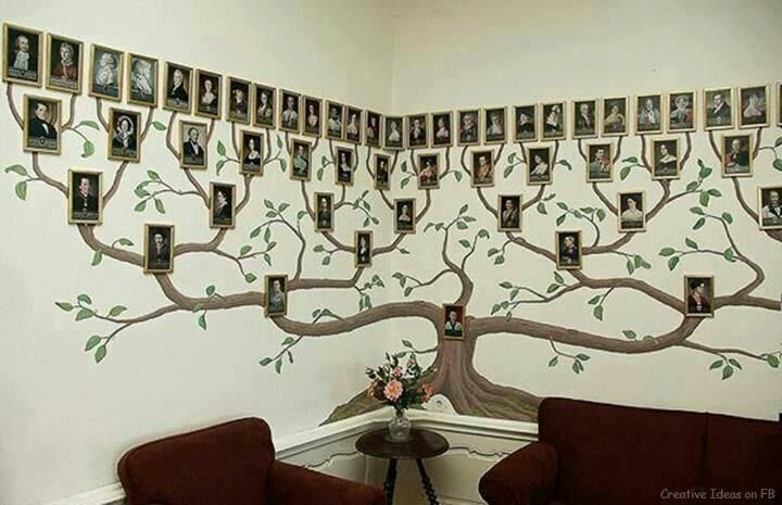 VIEW IN GALLERY family-tree-wall art wonderfuldiy10 & Wonderful DIY Amazing Family Tree Wall Art