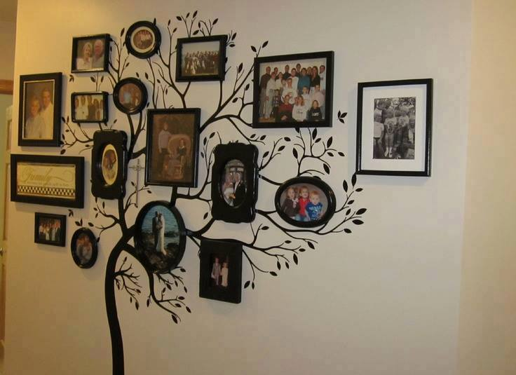 VIEW IN GALLERY family-tree-wall art wonderfuldiy3 & Wonderful DIY Amazing Family Tree Wall Art