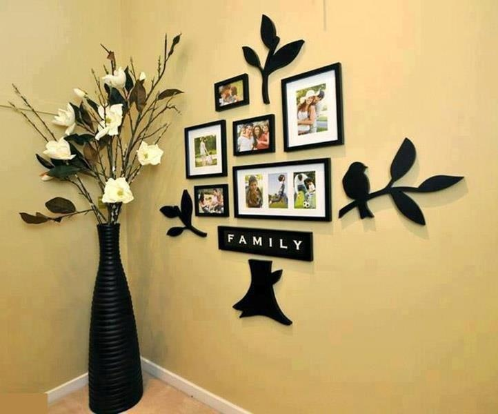 Charming Wonderful DIY Amazing Family Tree Wall Art