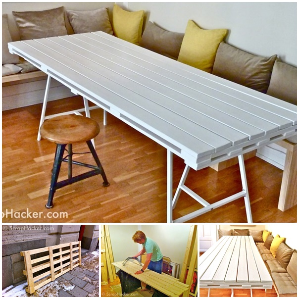 VIEW IN GALLERY Pallet Dining Table Wonderfuldiy