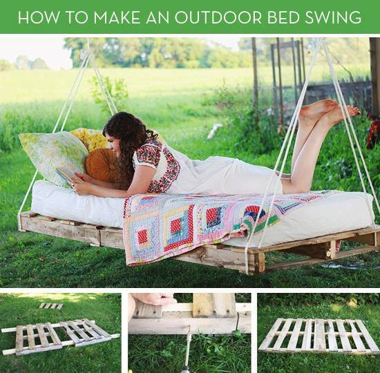 pallet swing bed-wonderfuldiy