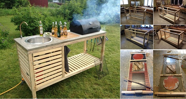 Attrayant VIEW IN GALLERY Perfect Barbeque Portable Outdoor Kitchen Wonderfuldiy1  Wonderful DIY Perfect Portable Outdoor Kitchen