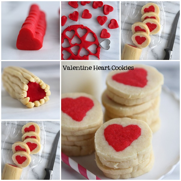 valentine heart cookies wonderfuldiy Wonderful DIY Slice n Bake Valentine Heart Cookies