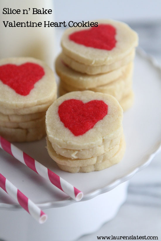 valentine heart cookies wonderfuldiy1 Wonderful DIY Slice n Bake Valentine Heart Cookies