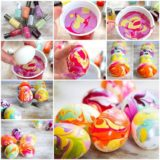 Wonderful DIY Easter Marble Egg using Nail Polish