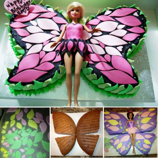 Barbie Butterfly Cake WONDERFULDIY Wonderful DIY Butterfly Cake