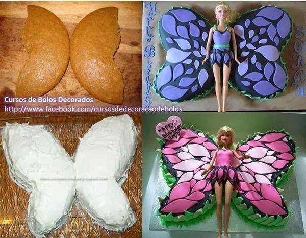 Barbie Butterfly Cake WONDERFULDIY2 Wonderful DIY Butterfly Cake