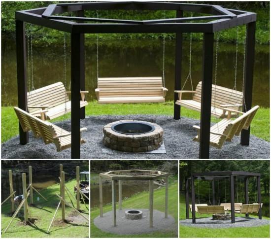 Campfire Swing wonderfuldiy11 Wonderful DIY Campfire Swing