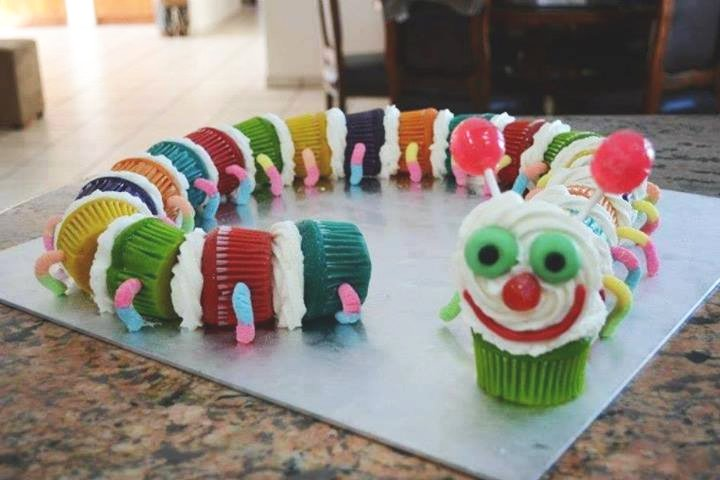 Caterpilla cupcake recipe