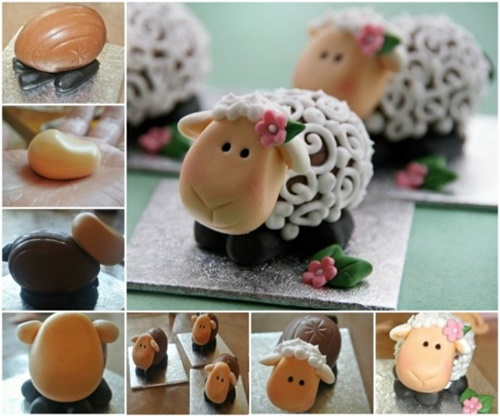 Creme Easter Egg Lamb-wonderfuldiy