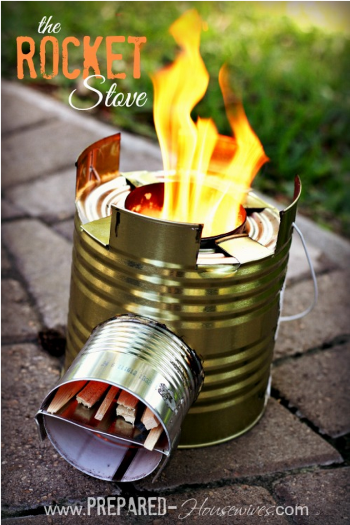DIY Rocket Stove 2 Wonderful DIY Can Rocket Stove