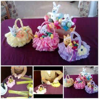 Wonderful DIY Beautiful Easter Basket  from Recycled Plastic Bag and Bottle